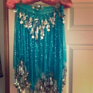 Belly dancer skirt and top